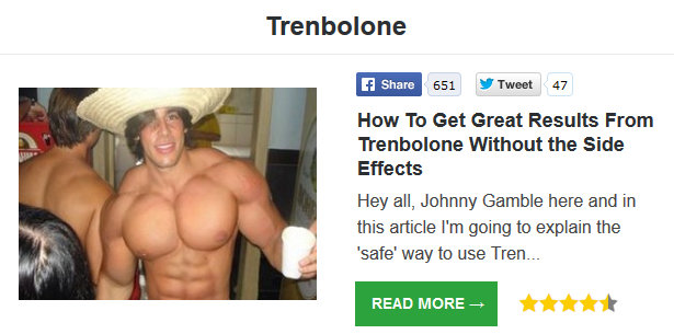 trenbolone injection site pain